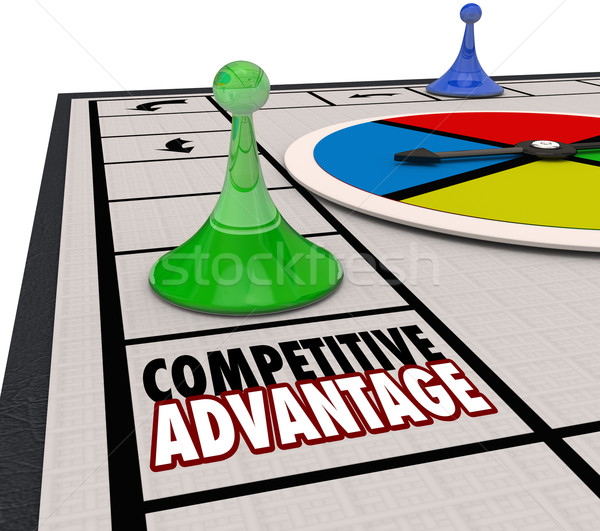 Competitive Advantage Board Game Piece Moving Forward Winner Stock photo © iqoncept