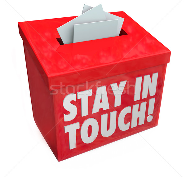 Stay in Touch Box Letters Messages Notes Communication Stock photo © iqoncept