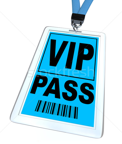 VIP Pass - Lanyard and Badge Stock photo © iqoncept