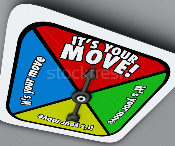 It's Your Move Game Spinner Compete Turn Progress Forward Stock photo © iqoncept