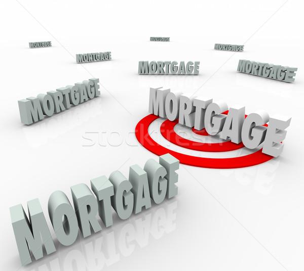 ипотечный слово лучший заем вариант Сток-фото © iqoncept