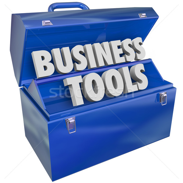 Stock foto: Business · Werkzeuge · Werkzeugkasten · Management · Ressourcen · Software