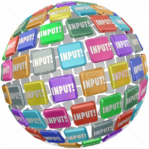 Input Word Tile Feedback Comments Information Reviews Ideas Stock photo © iqoncept