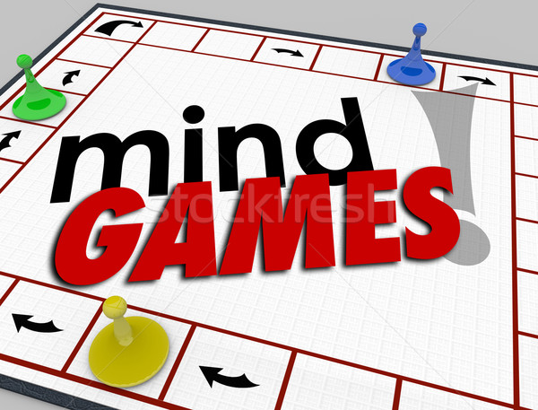 Mind Games Board Psychology Behavior Tricks Psychology Emotion Stock photo © iqoncept