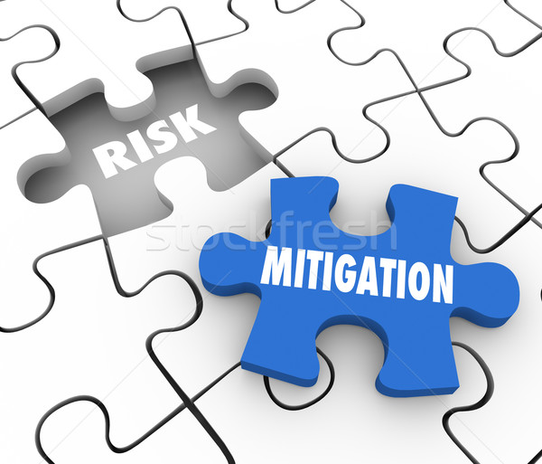 Risk Mitigation Puzzle PIeces Reduce Danger Security Problem Stock photo © iqoncept