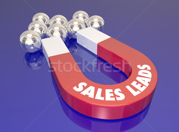 Sales Leads Magnet Attract New Customers Prospects Lead Generati Stock photo © iqoncept