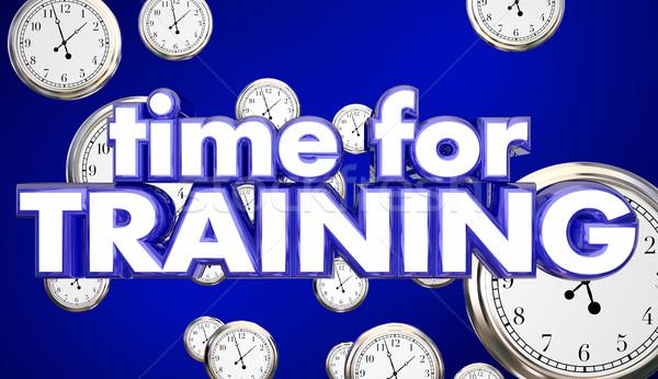время подготовки часы образование навыки обучения Сток-фото © iqoncept