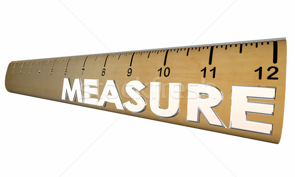 Measure Your Health Wellness Fitness Ruler 3d Illustration Stock photo © iqoncept