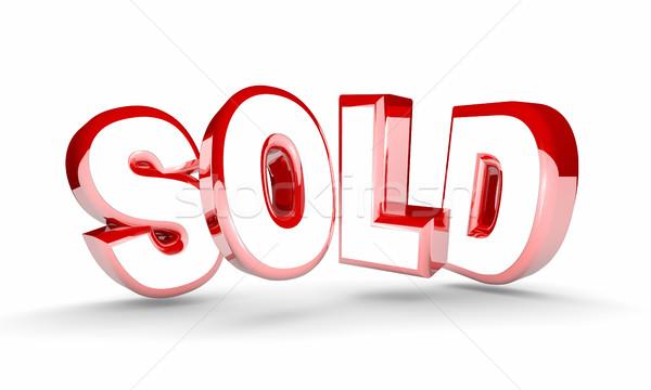 Uitverkocht verkoop finale gesloten deal kopen Stockfoto © iqoncept