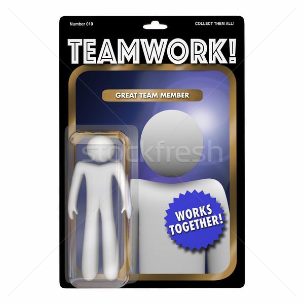 Team Player Valued Member Worker Action Figure 3d Illustration Stock photo © iqoncept