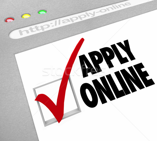 Apply Online - Web Screen - Fill Out Application on Website Stock photo © iqoncept