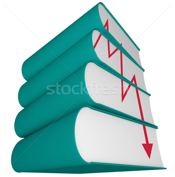 Decline of Publishing Industry - Falling Sales Arrow Stock photo © iqoncept