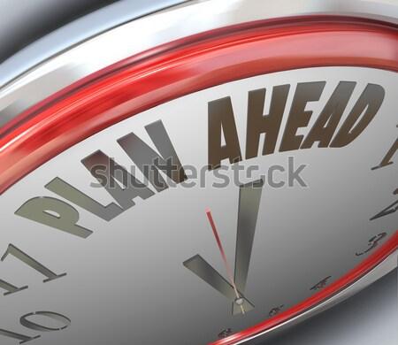 Time to Save Clock Money Savings Wealth Stock photo © iqoncept