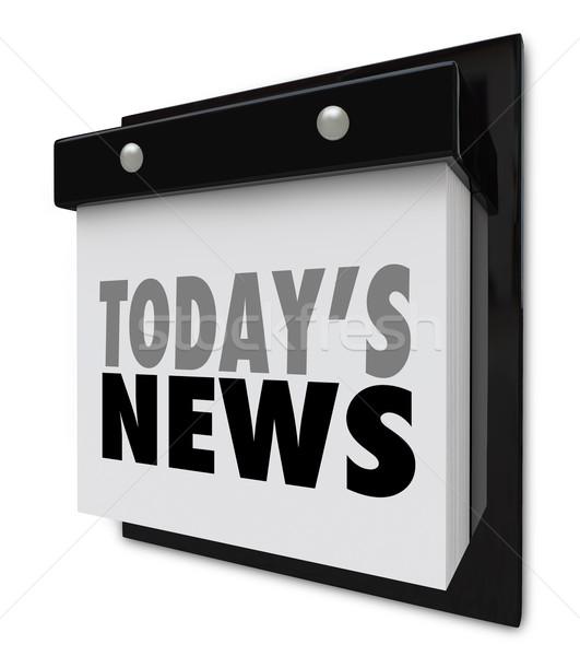 Notícia calendário atualizar informação importante alertar Foto stock © iqoncept