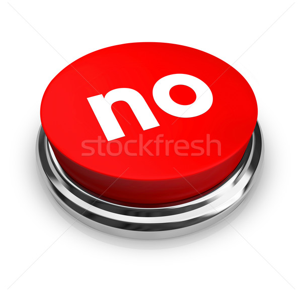 No - Red Button Stock photo © iqoncept
