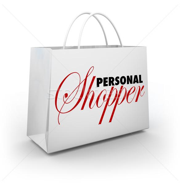 Personal moda estilo ayudante servicio Foto stock © iqoncept
