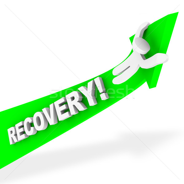 Riding the Arrow of Recovery Stock photo © iqoncept