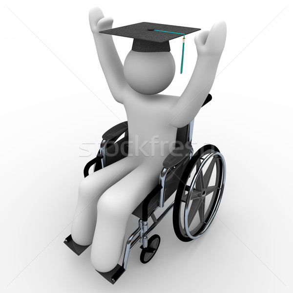 Wheelchair Person - Education Stock photo © iqoncept