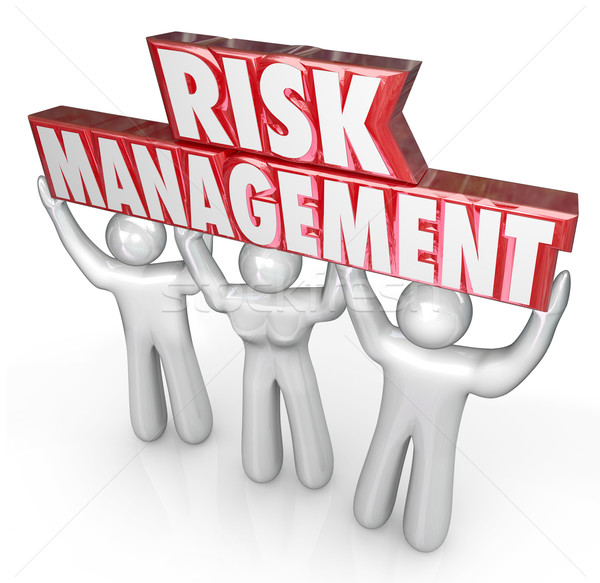 Risk Management People Team Lift Words Limit Liability Stock photo © iqoncept