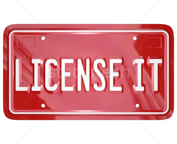 Licence vanité plaque approbation officielle Photo stock © iqoncept