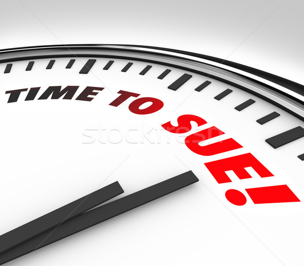 Time to Sue Clock Lawsuit Legal Law Justice Court Stock photo © iqoncept