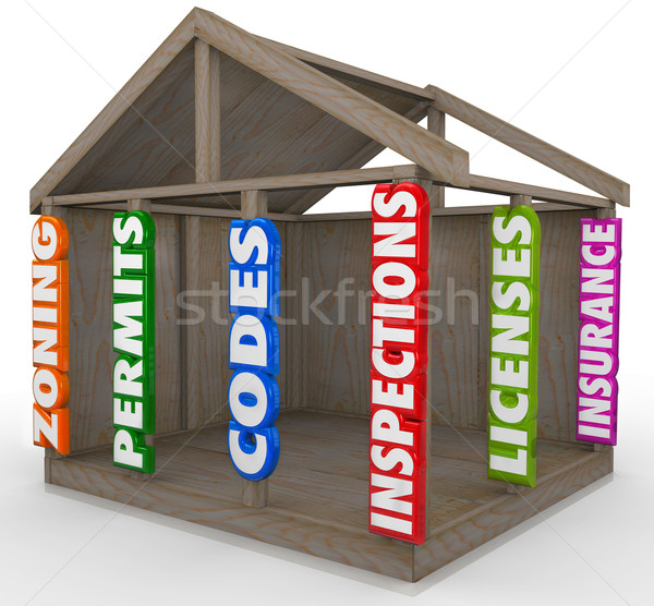 New Home Construction Essential Steps Permits Codes Inspections  Stock photo © iqoncept