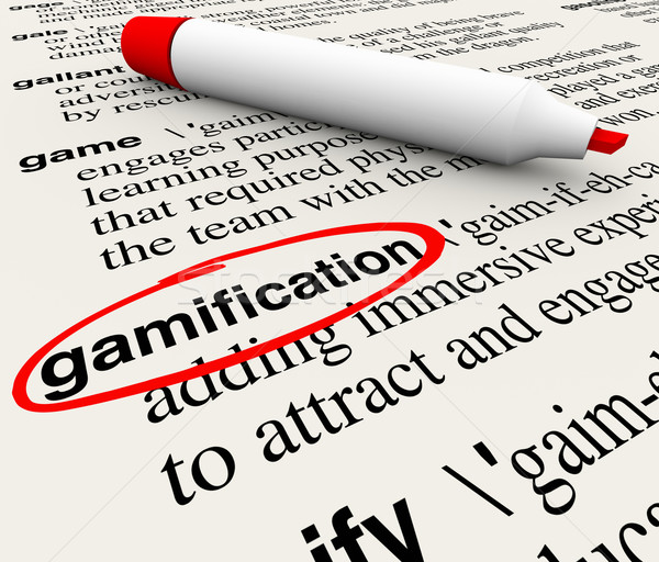 Gamification Word Circled Dictionary Definition Stock photo © iqoncept