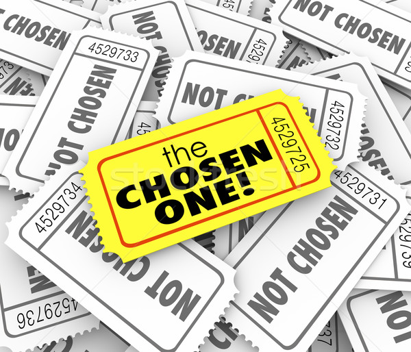 The Chosen One Golden Ticket Lucky Winner Selected Game Competit Stock photo © iqoncept