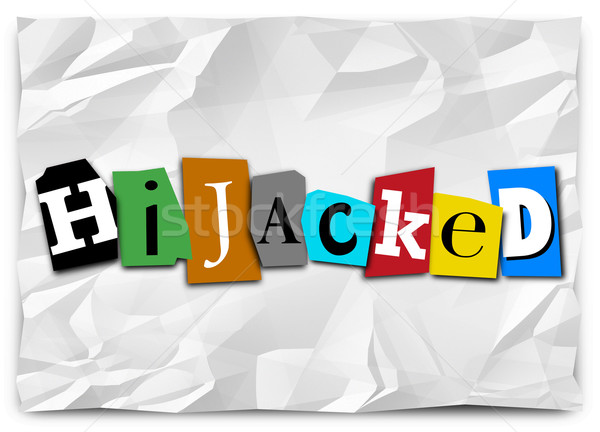 Hijacked Word Ransom Note Taking Over by Force Stock photo © iqoncept