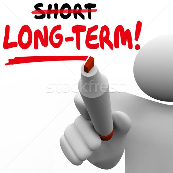 Long Term Word Vs Short Better Results Longer Later Investment M Stock photo © iqoncept