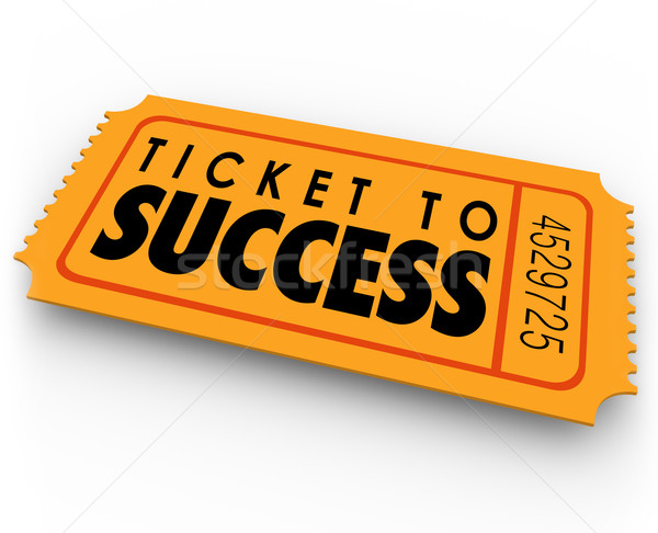 Ticket to Success Winning Raffle Lottery Victory Triumph Stock photo © iqoncept