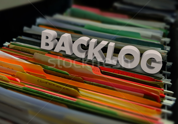 Backlog File Folders Wait Inefficient Bureaucracy Stock photo © iqoncept