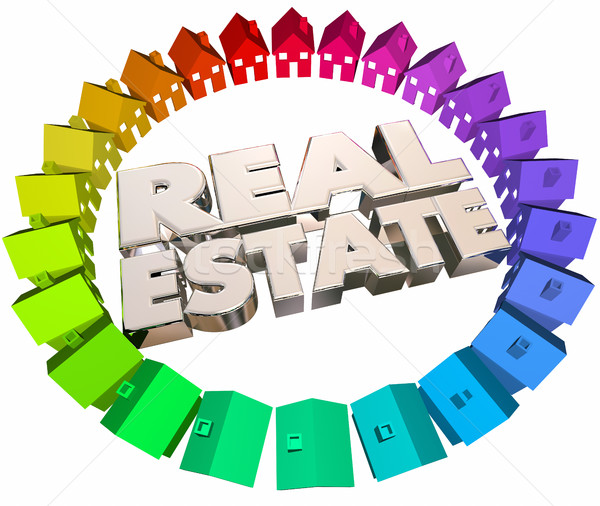Real Estate Agents Agency Houses Homes for Sale 3d Animation Stock photo © iqoncept