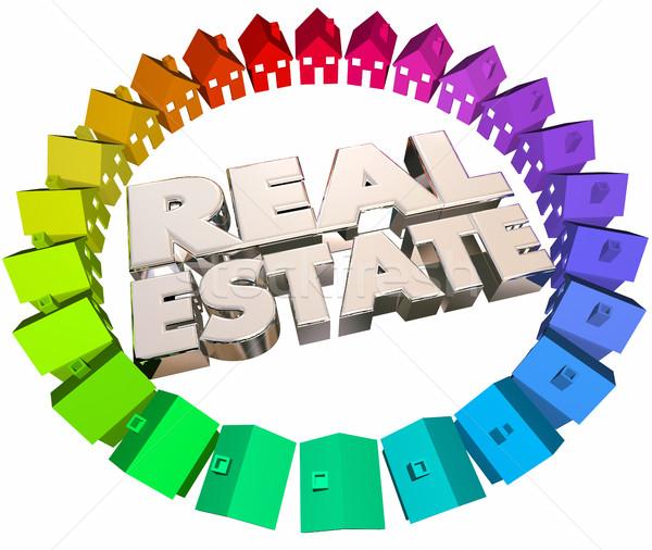Imóveis agência casas casas venda 3D Foto stock © iqoncept