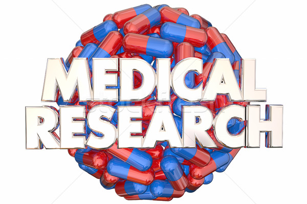 Medical Research Medicine Capsules Pills Find Cure 3d Illustrati Stock photo © iqoncept
