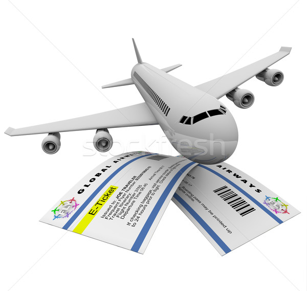 E-Tickets and Airplane Stock photo © iqoncept