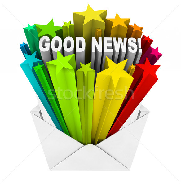 Good News Arrives in Open Envelope and Letter Stock photo © iqoncept