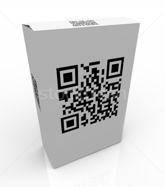 QR Product Code on Box for Scanning Barcode  Stock photo © iqoncept