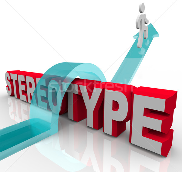 Overcoming a Stereotype Discrimination or Racism Stock photo © iqoncept