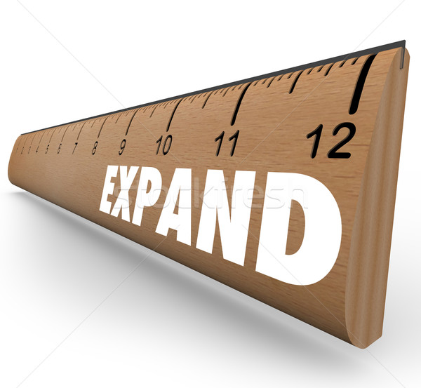 Expand Word Ruler Grow Expansion to New Level Stock photo © iqoncept