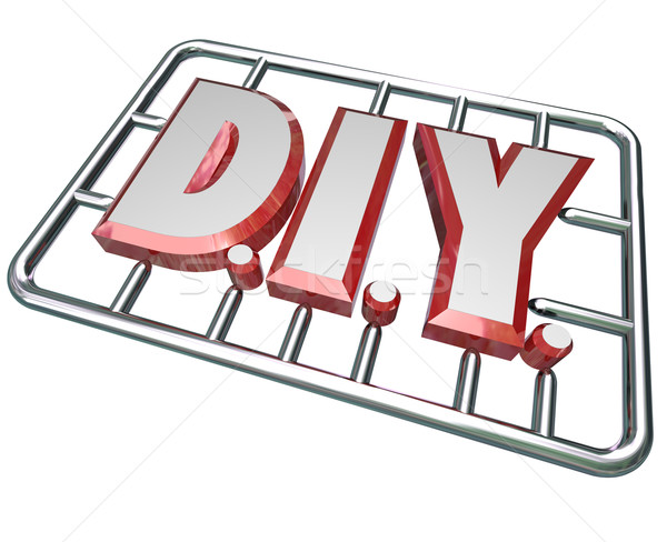 DIY Do it Yourself Letters Model Kit Stock photo © iqoncept