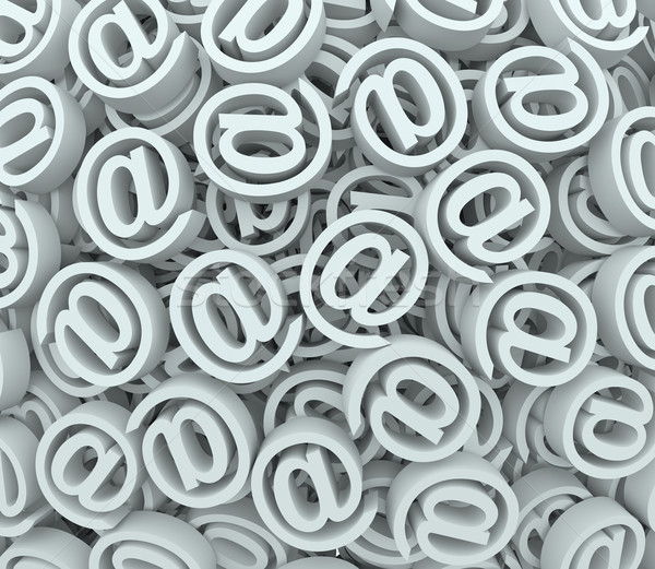 @ Sign At Email Symbol Background Send Receive Messages Stock photo © iqoncept