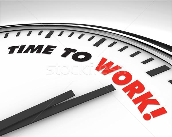 Time to Work - Clock Stock photo © iqoncept