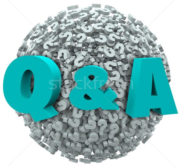 Stockfoto: Vraagteken · bol · vragen · antwoorden · ondersteuning · helpen
