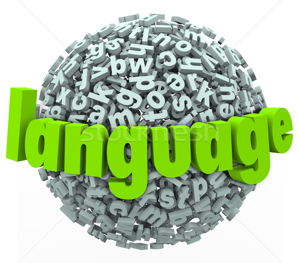 Language Letter Word Sphere Learn Foreign Speak Talk Stock photo © iqoncept