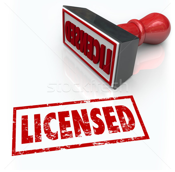 Licensed Stamp Official Authorized Certified Approval Stock photo © iqoncept