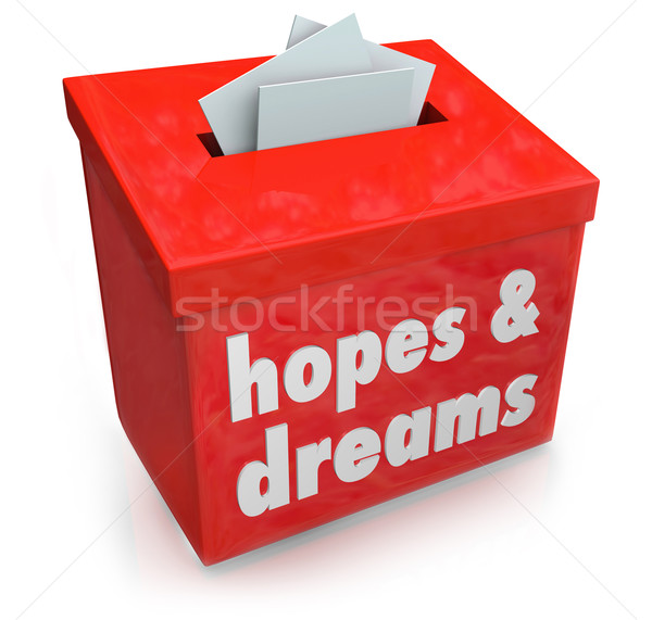 Hopes Dreams Box Collecting Desires Wants Yearning Ambitions Stock photo © iqoncept