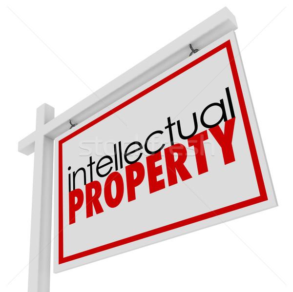 Propriété intellectuelle vente signe publicité origine mots Photo stock © iqoncept