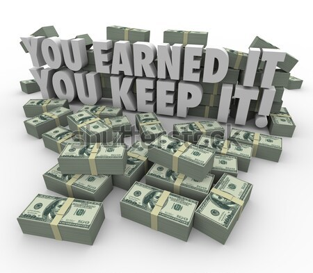 Second Income Money Falling Side Job Work Earn More Cash Stock photo © iqoncept