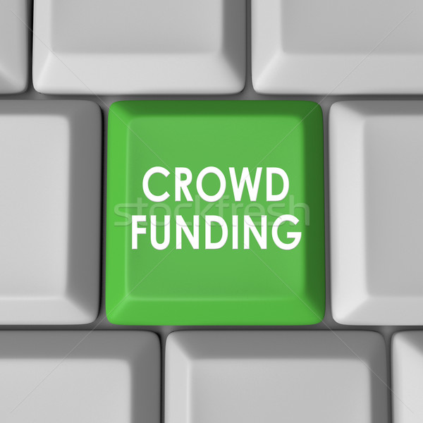 Crowd Funding Computer Keyboard Key Button Stock photo © iqoncept
